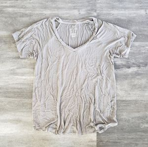 Grey Basic AEO Vneck Short Sleeve